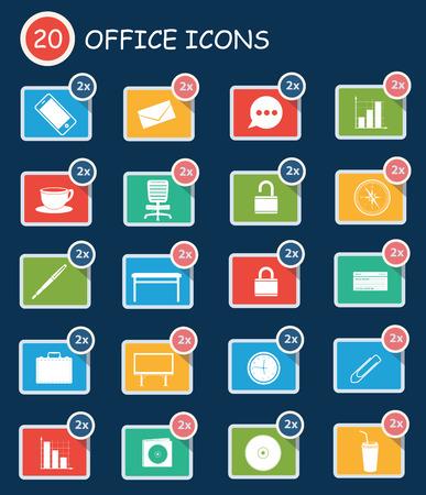 disk break: Office icons,clean vector Illustration