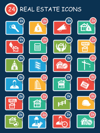 Real estate,sale house icons,clean vector Vector