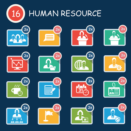 job functions: Human resource icon set,clean vector