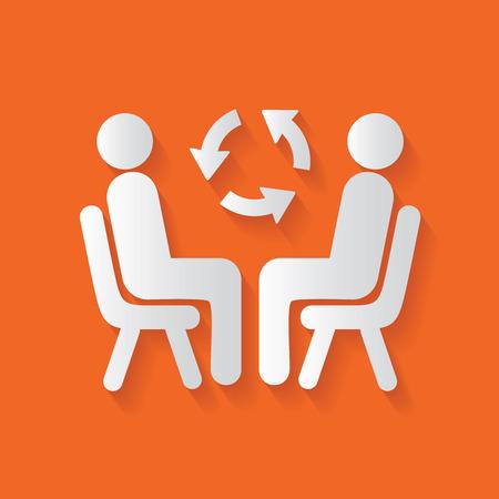 dos personas hablando: Los recursos humanos, limpio vector