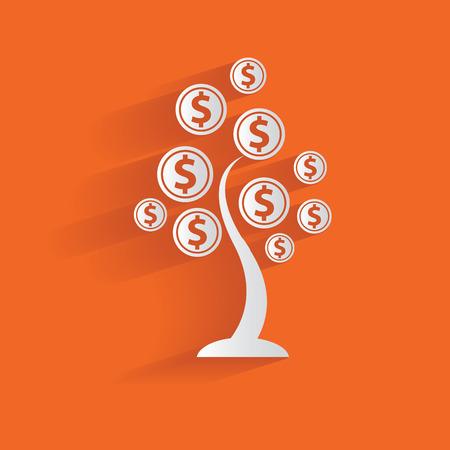 Money tree,clean vector Illustration