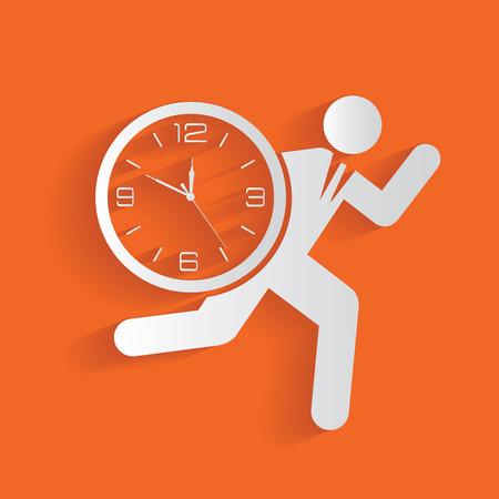 running race: Businessman concept,clean vector