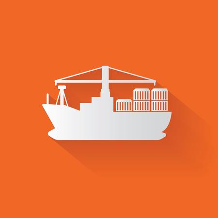 Boat symbol,clean vector Vector