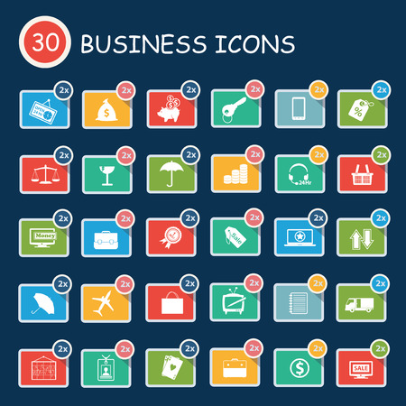 Business icons,clean vector Vector