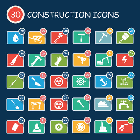 Construction icons,clean vector Vector