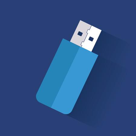 mass storage: Flash drive symbol,clean vector