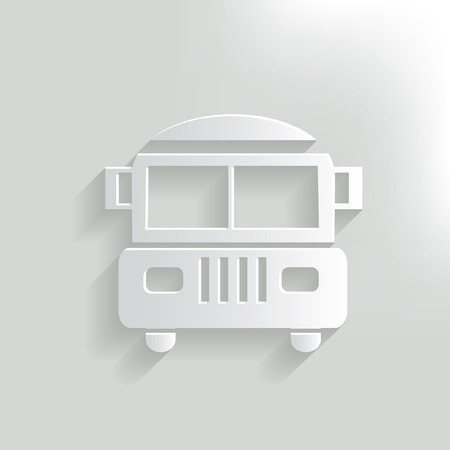 back view student: School bus,clean vector Illustration