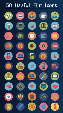 Useful flat icons,Web and business icons,clean vector Vector