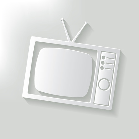show case: TV,clean vector