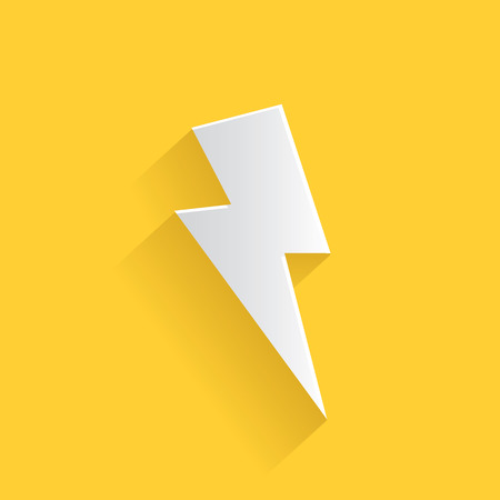 Thunder storm symbol,clean vector