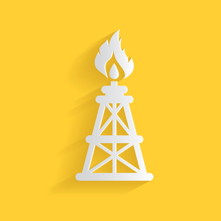 Oil industry symbol,clean vector Vector