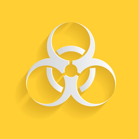 isotope: Biohazard symbol,clean vector