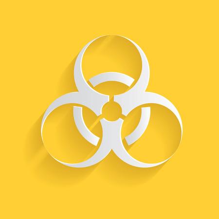 Biohazard symbol,clean vector