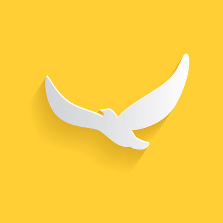 Bird symbol,clean vector Vector