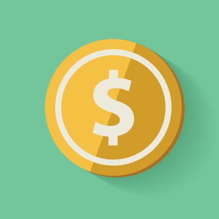 Geldsymbool, schone vector Stock Illustratie