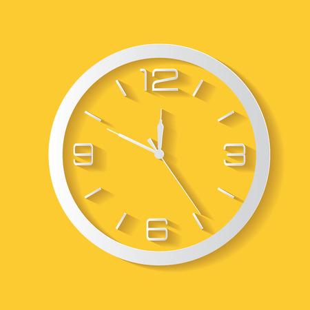 orologio da parete: Simbolo di un orologio, vettore pulito Vettoriali