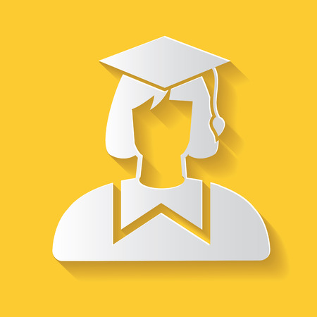 master degree: Student symbol,clean vector