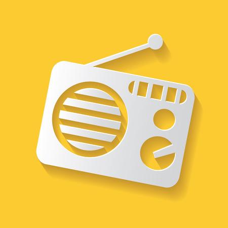 fm: Radio symbol,clean vector