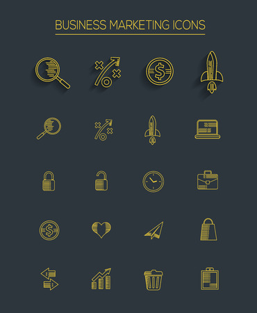 Strategy and business icons Vector
