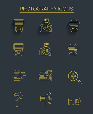 Photography icons,clean vector Vector