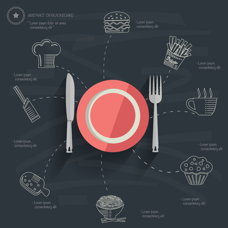Food and drink concept design Vector