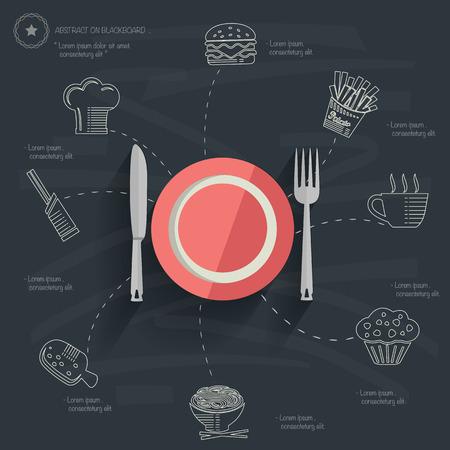 Food and drink concept design Illusztráció