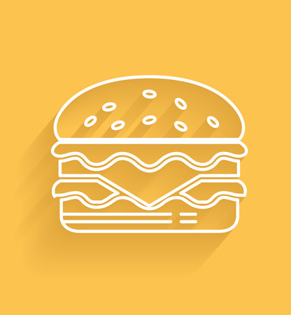 delectable: Hamburger symbol Illustration