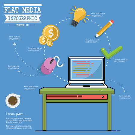 Media concept design Vector
