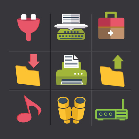 Object cartoon icons,clean vector