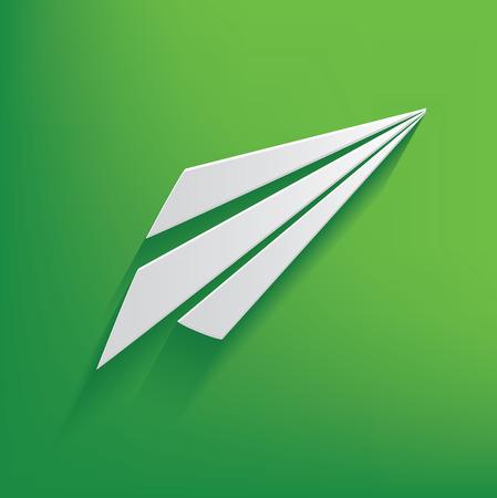 positiveness: Rocket s�mbolo sobre fondo verde, vector limpia Vectores