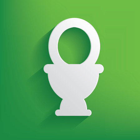 Toilet symbol on green background,clean vector