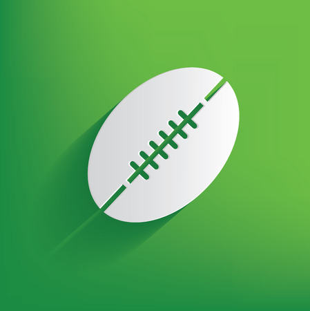 rugby team: Rugby symbol on green background,clean vector Illustration