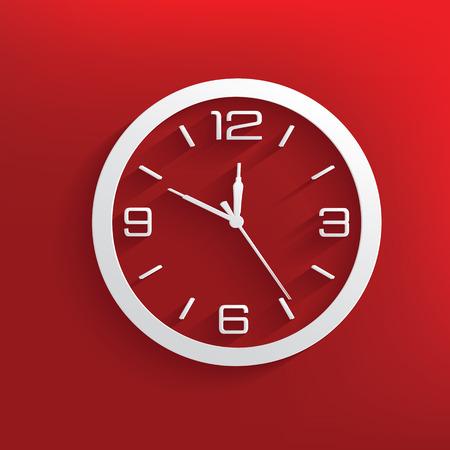 winder: Clock design on red background,clean vector Illustration