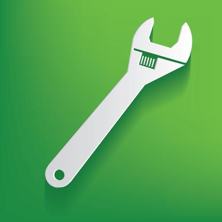 Repair symbol on green background,clean vector Vector