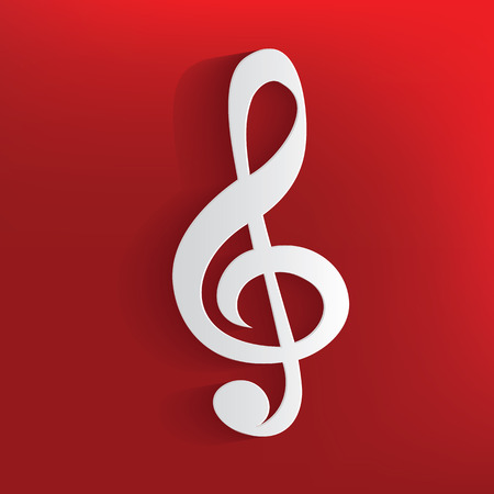 mozart: Song design on red background,clean vector Illustration