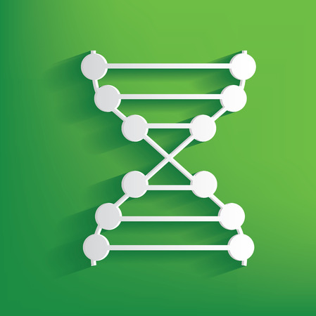 enzyme: Enzyme symbol on green background,clean vector Illustration