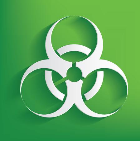 Danger symbol on green background,clean vector Vector