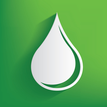 soda splash: Water symbol on green background,clean vector