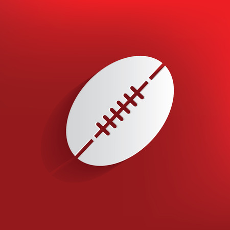 rugby team: Rugby design on red background,clean vector