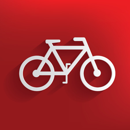 Bicycle design on red background,clean vector Vector