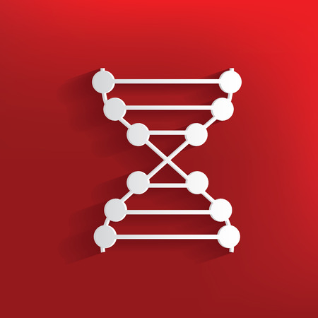 deficiency: Enzyme design on red background,clean vector Illustration