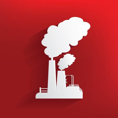 Diseño de la Contaminación en el fondo rojo, vector limpia