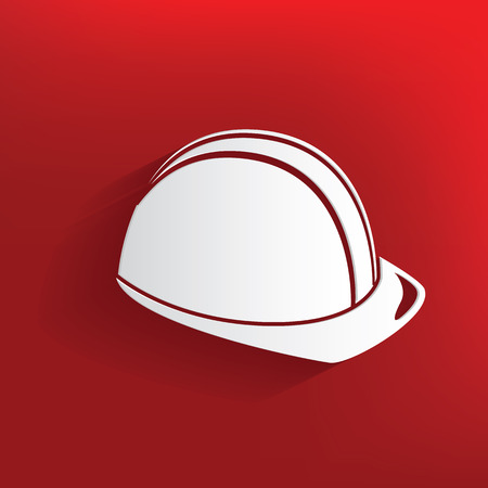 Safety design on red background,clean vector