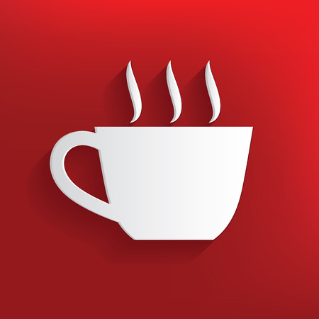 Coffee design on red background,clean vector 向量圖像