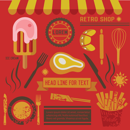 Meat and food design,clean vector Vector
