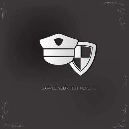 security symbol: Security symbol on old background,dark vector