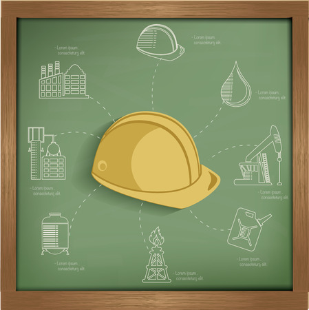 website traffic: Construction concept design on blackboard background,clean vector