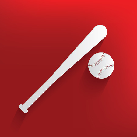 Baseball design on red background,clean vector Vector