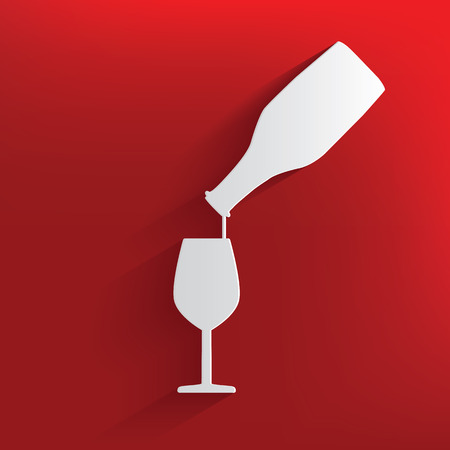 Wine design on red background,clean vector Vector