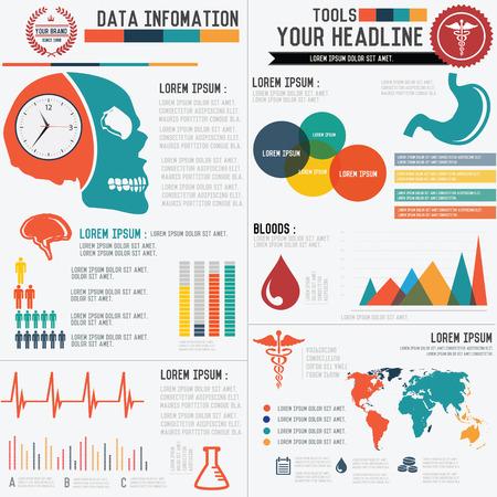 Medical Info graphics design,clean vector Vector